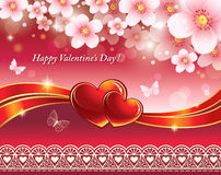 Romantic postcard for Valentines Day Stock Photos