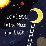 Love you to the moon Royalty Free Stock Photo
