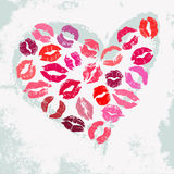 Romantic poster with decorative heart Stock Images