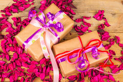 Romantic presents stock images