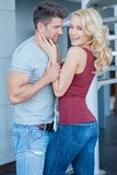 Romantic Pretty Young Couple Photo Shoot Royalty Free Stock Photos