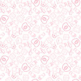 Romantic princess background. Romantic seamless pattern with princess accessories Royalty Free Stock Images