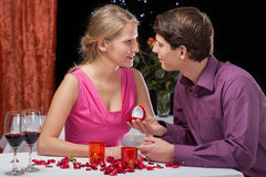 Romantic proposal Stock Photography