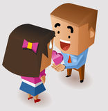 Romantic proposing on Valentine Royalty Free Stock Images