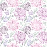 Romantic Provence Vector Pattern Royalty Free Stock Image