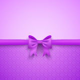 Romantic  purple background with cute bow and Royalty Free Stock Images