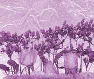 Romantic purple flower background Royalty Free Stock Photos