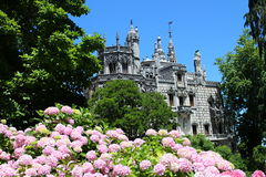 Romantic Quinta da Regaleira palace, Sintra, Portugal Stock Images