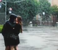 Romantic rain Stock Images