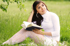 Romantic reader Stock Images