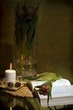 Romantic reading Stock Photo