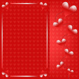 Romantic red heart background. Romantic red Valentine heart background Royalty Free Stock Photos