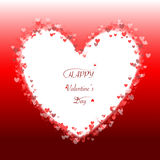 Romantic red heart background frame vector Royalty Free Stock Photo