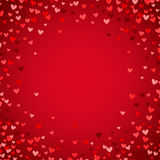 Romantic red heart background. Vector illustration Royalty Free Stock Image