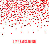 Romantic red heart background. Vector illustration Stock Photo