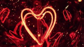 Romantic red heart light