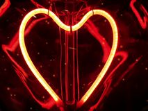 Romantic red heart light valtenine love