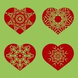 Romantic Red Heart Set Stock Image