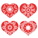 Romantic Red Heart Set Royalty Free Stock Photography