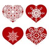Romantic Red Heart Set Royalty Free Stock Photos