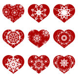 Romantic Red Heart Set Royalty Free Stock Image