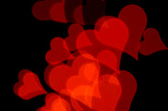Romantic red hearts Royalty Free Stock Image