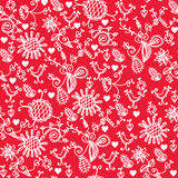 Romantic red seamless pattern Royalty Free Stock Image