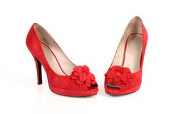 Romantic Red Shoes Royalty Free Stock Image