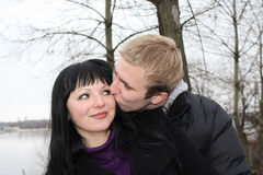 Romantic relations. Of the loving couple Royalty Free Stock Images