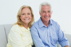 Romantic relaxed senior couple at home Royalty Free Stock Photography