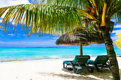 Romantic relaxing holidays in tropical island royalty free stock photos