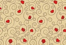 Romantic repeating wallpaper Stock Images