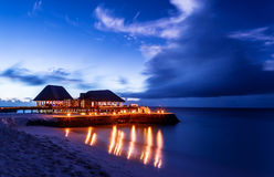 Romantic restaurant on the beach Royalty Free Stock Photos