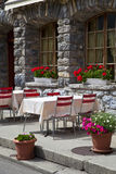 Romantic Restaurant Terrace Royalty Free Stock Photo