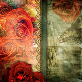 Romantic retro background Stock Images