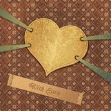 Romantic retro background with heart Stock Images