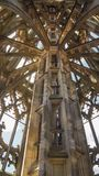 Close up of middle column of ulm minster tower stock photos