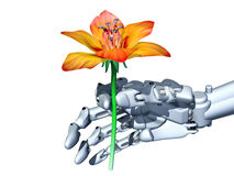 Romantic robot Royalty Free Stock Photos