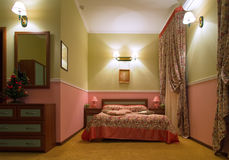 Romantic room interior. Interior of a hotel room in classic style Stock Photo