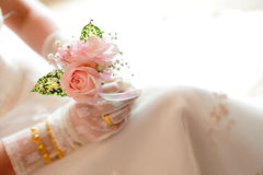 Romantic Rose. With a waiting bride Royalty Free Stock Photo