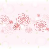 Romantic rose background Stock Photos
