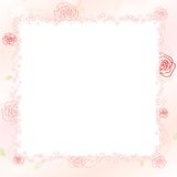 Romantic rose background Stock Images