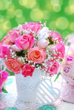 Romantic rose bouquet for wedding Royalty Free Stock Photos