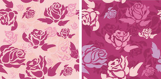 Romantic rose with dove pattern, vector. Stock Image