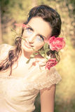 Romantic Rose Woman Royalty Free Stock Photo