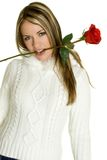Romantic Rose Woman. Romantic valentines day rose woman Stock Photo
