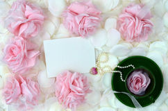 Romantic Roses And Jewelry For Mothers Day Royalty Free Stock Photo