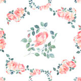 Romantic roses seamless pattern Royalty Free Stock Image