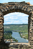 Romantic route along the Mosel revier. Romantic revier route in Germany along the Mosel revier Stock Photography