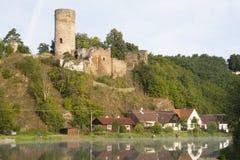 Romantic ruin in the village Dobronice. Czech republic Royalty Free Stock Photo